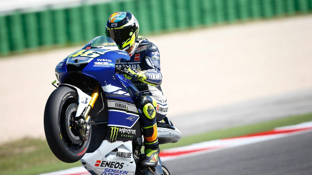Valentino Rossi, Yamaha Factory Racing, Misano Q2