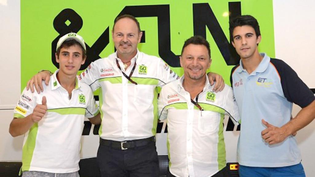 Antonelli and Isaac Viñales, GO&FUN Honda Gresini Moto3 2014