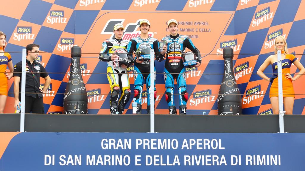 Viñales, Rins, Marquez, Team Calvo, Estrella Galicia 0,0, Misano RAC