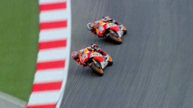 Misano 2013 - MotoGP - RACE - Action - Marc Marquez - Dani Pedrosa