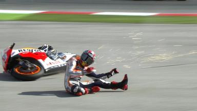 Misano 2013 - MotoGP - WUP - Action - Marc Marquez - Crash