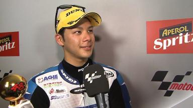 Nakagami dedicates second place to Tomizawa