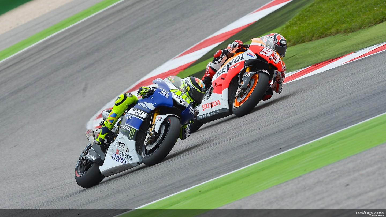 motogp.com · Valentino Rossi, Marc Marquez, Yamaha Factory Racing, Repsol Honda Team, Misano RAC