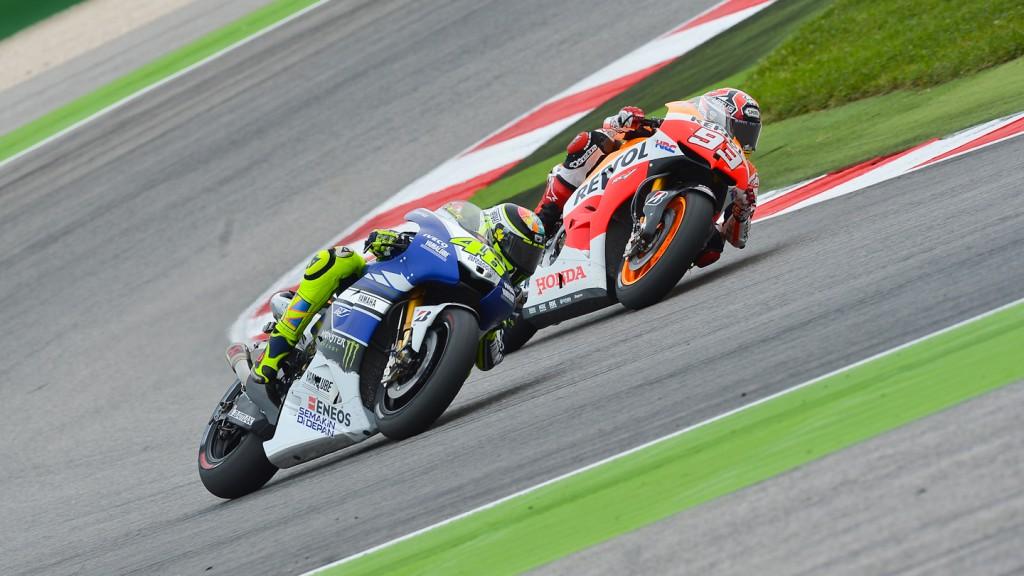 Valentino Rossi, Marc Marquez, Yamaha Factory Racing, Repsol Honda Team, Misano RAC