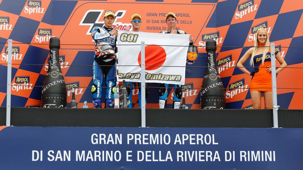 Nakagami, Espargaro, Rabat, Italtrans Racing Team, Tuenti HP 40, Misano RAC