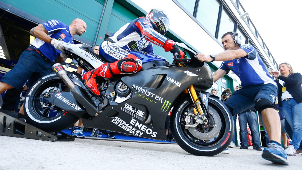Lorenzo 2014 M1 Set Up Yamaha Factory Racing, Misano Test