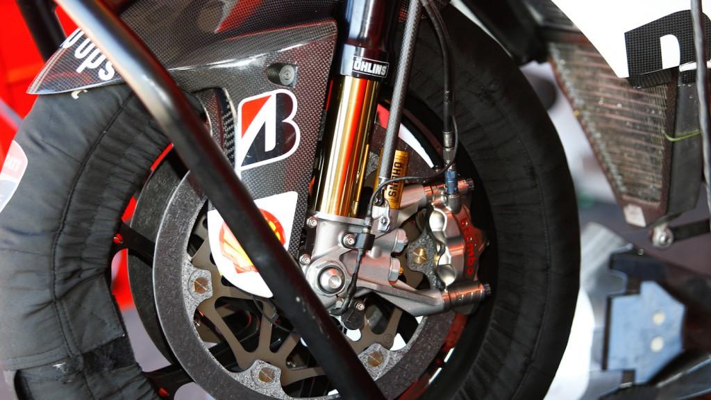 Hayden Desmocedici Brakes detail, Misano Test