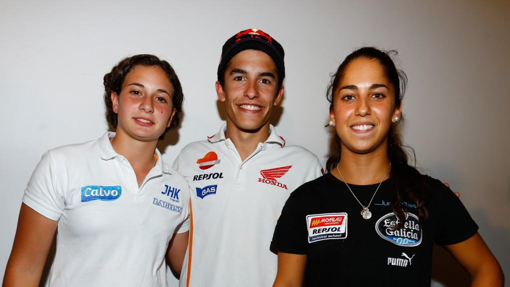 Ana Carrasco, Marc Marquez, María Herrera, Gran Premio Iveco de Aragón Press Conference
