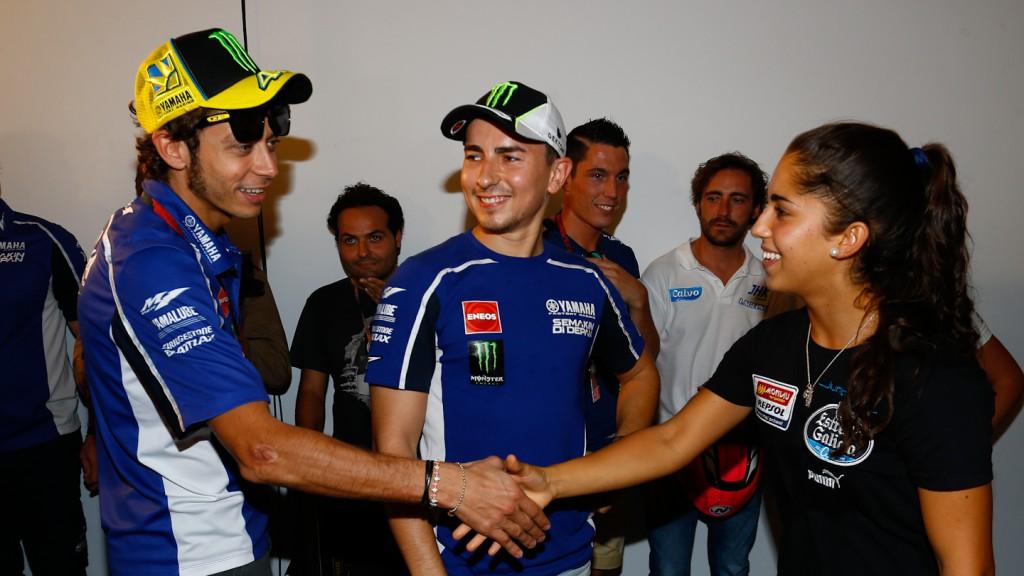 Rossi, Lorenzo, María Herrera, Gran Premio Iveco de Aragón Press Conference