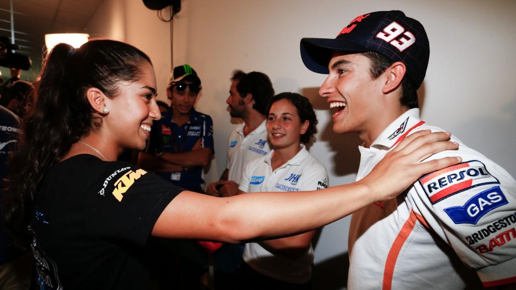 María Herrera, Marc Marquez, Gran Premio Iveco de Aragón Press Conference