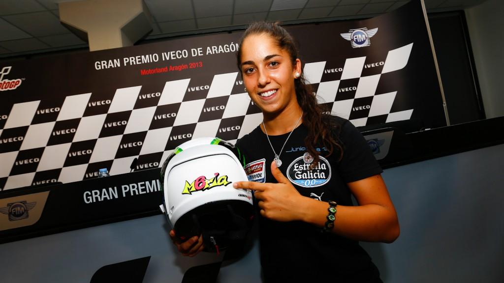 María Herrera, Gran Premio Iveco de Aragón Press Conference