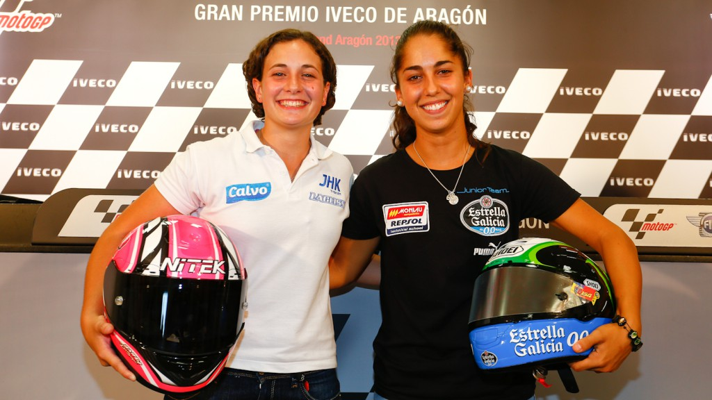 Ana Carrasco, María Herrera, Gran Premio Iveco de Aragón Press Conference