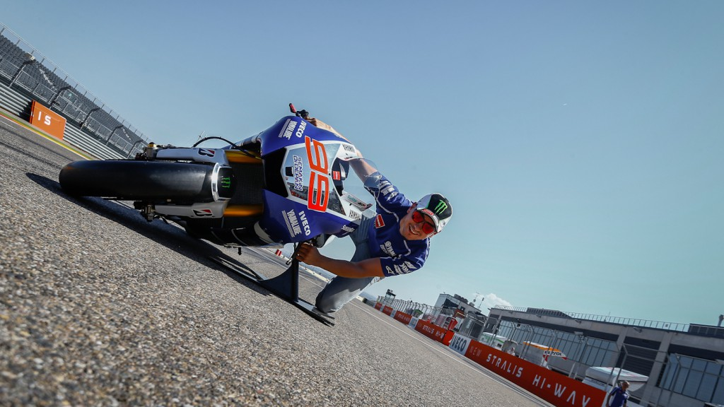 Jorge Lorenzo demonstrates the art of Lean Angle