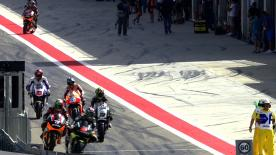 MotoGP World Championship leader Marc Marquez took over at the top of the combined Friday timesheet with a strong performance in FP2 at the Gran Premio Iveco de Aragon, ahead of fellow Honda riders Stefan Bradl and Dani Pedrosa.