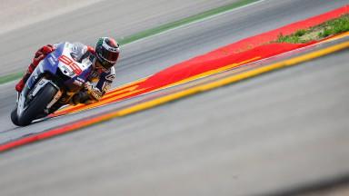 Jorge Lorenzo, Yamaha Factory Racing, Aragón FP1