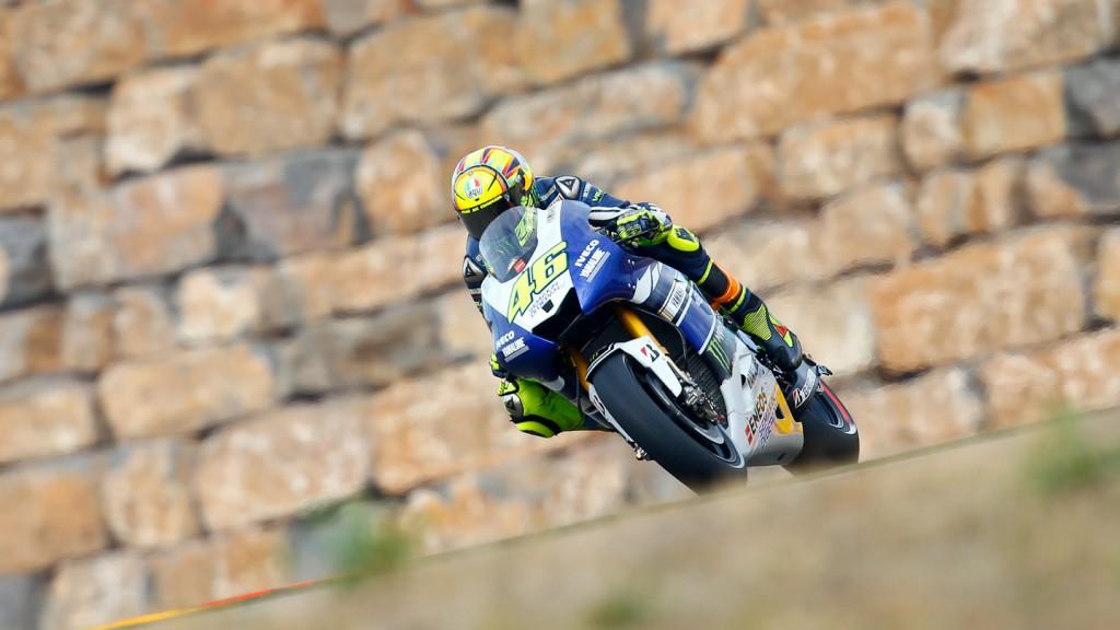 Valentino Rossi, Yamaha Factory Racing, Aragón Q2