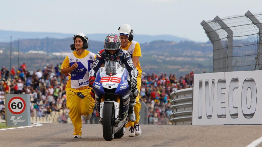 Jorge Lorenzo, Yamaha Factory Racing, Aragón Q2