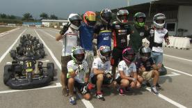 Riders take to Sepang karting circuit