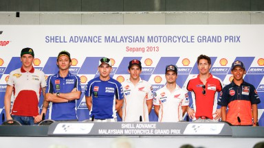 Shell Advance Malaysian Motorcycle Grand Prix Press conference