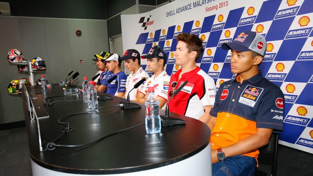 Shell Advance Malaysian Motorcycle Grand Prix Press conference