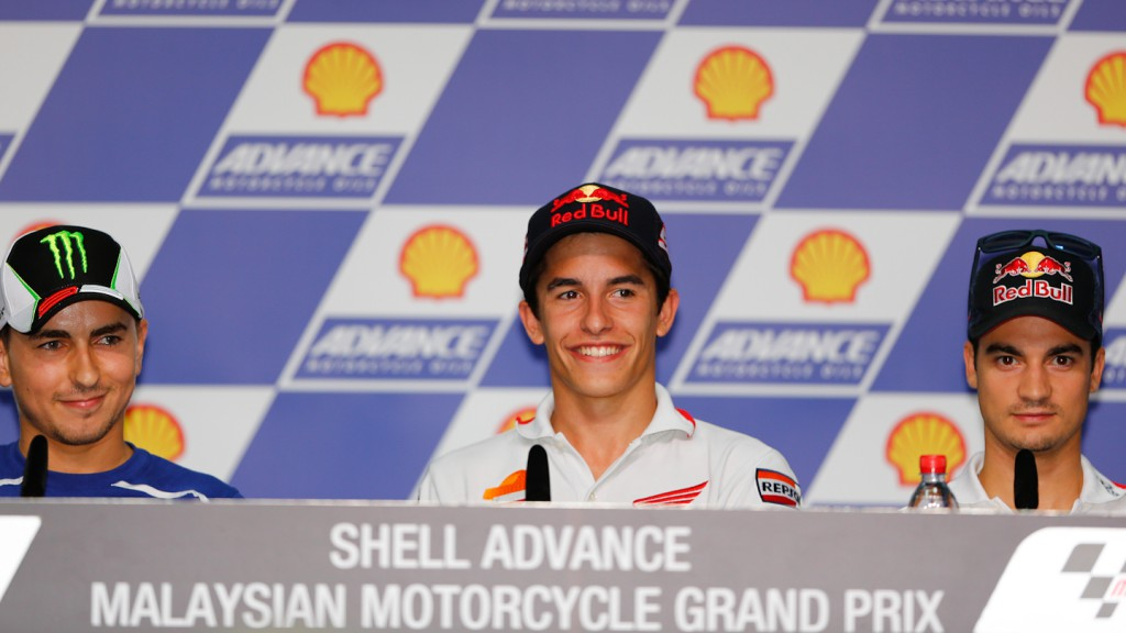 Lorenzo, Marquez, Pedrosa, Shell Advance Malaysian Motorcycle Grand Prix Press conference