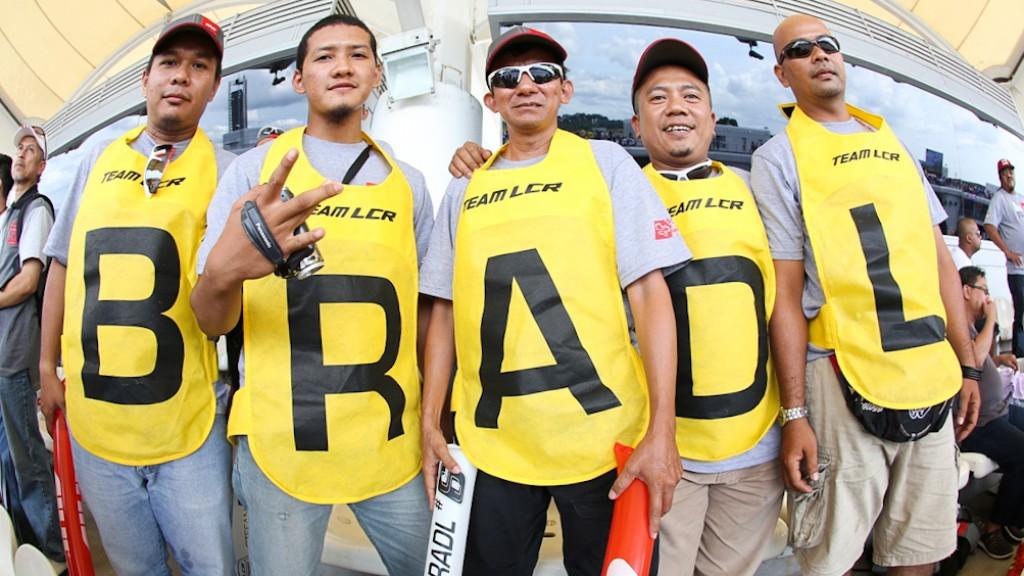 Stefan Bradl meets fans, Sepang Circuit