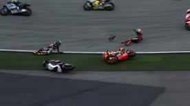 Sepang 2013 - Moto2 - RACE - Action - Alex De Angelis - Xavier Simeon - crash