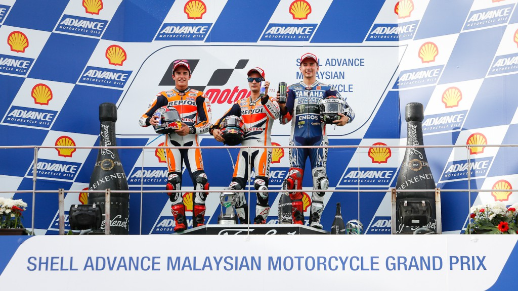 Marquez, Pedrosa, Lorenzo, Repsol Honda Team, Yamaha Factory Racing, Sepang RAC