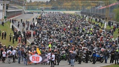 Marco Simoncelli´s tribute at Brno Circuit