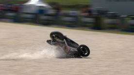 Phillip Island 2013 - Moto2 - FP1 - Action - Marcel Schrotter - Crash