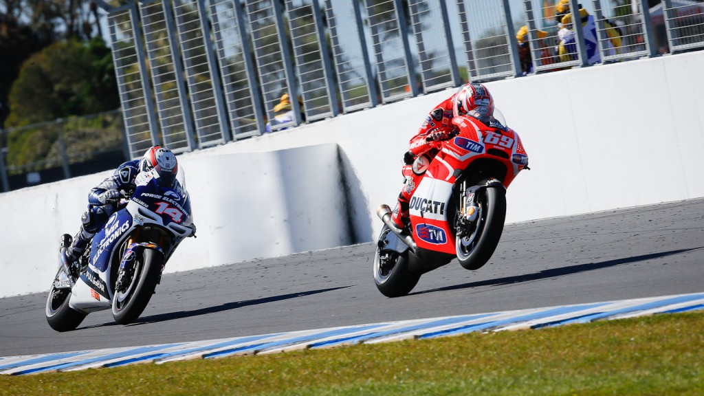 Nicky Hayden, Randy de Puniet, Ducati Team, Power Electronics Aspar, Phillip Island FP2