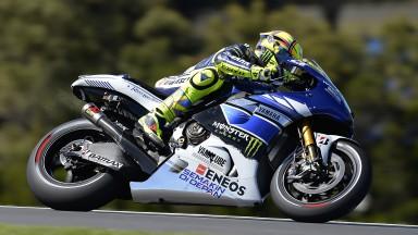 Valentino Rossi, Yamaha Factory Racing, Phillip Island FP1