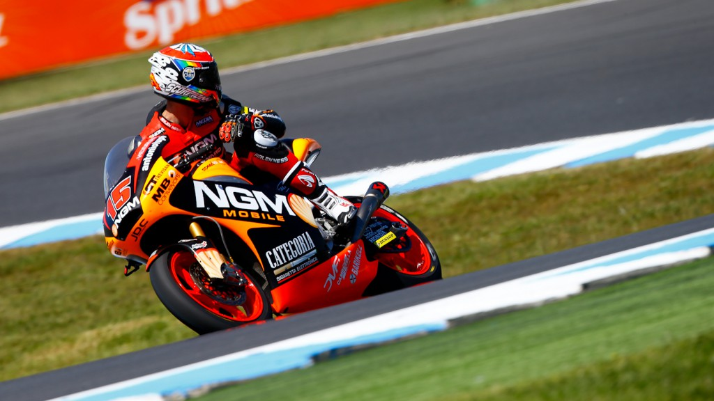 Alex de Angelis, NGM Mobile Racing, Phillip Island FP3