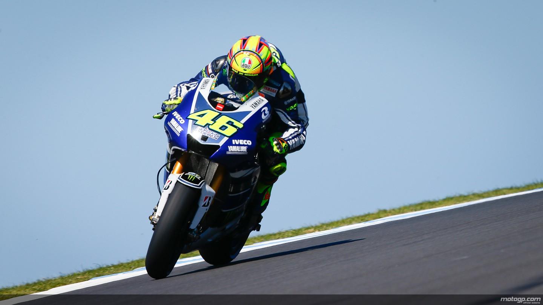 motogp.com · Valentino Rossi, Yamaha Factory Racing, Phillip Island Q2