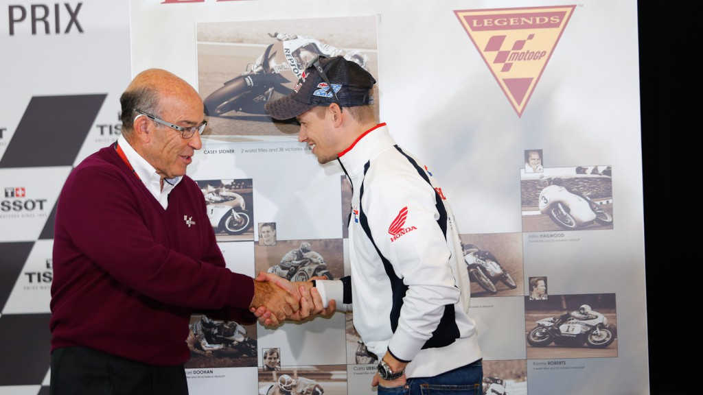 Dorna Sport CEO Carmelo Ezpeleta, MotoGP Legend Casy Stoner