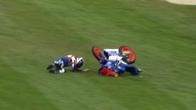 Phillip Island 2013 - Moto3 - RACE - Action - Hyuga Watanabe - Crash