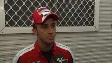 Dovizioso hails Hayden's rapid out-lap
