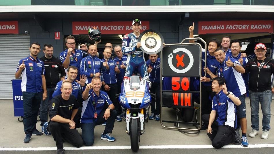 motogp.com · Lorenzo 50 Win, Phillip Island