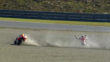 Motegi 2013 - MotoGP - FP - Action - Marc Marquez - Crash