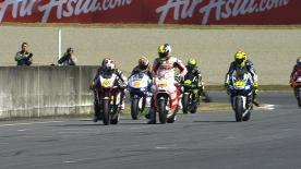 Stefan Bradl was quickest as Sunday practice was staged ahead of the AirAsia Grand Prix of Japan. The LCR Honda MotoGP rider led the way from Repsol Honda Team pairing Dani Pedrosa and Marc Marquez, with the championship leader having walked away from a high-speed crash earlier in the session.