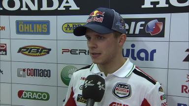 Bradl makes top five after missing two races