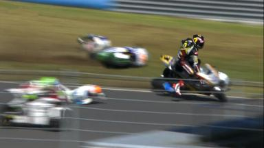 Motegi 2013 - Moto2 - RACE - Action - Alex Mariñelarena - Esteve Rabat - Scott Redding - Crash