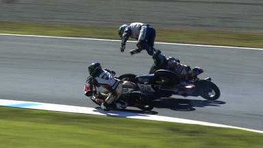 Motegi 2013 - Moto3 - RACE - Action - Luis Salom and Isaac Viñales - Crash