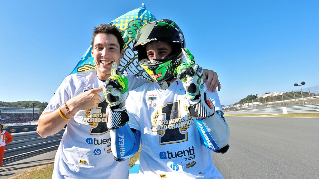 2013 Moto2 World Champion Pol Espargaro, Tuenti HP 40, Motegi RAC