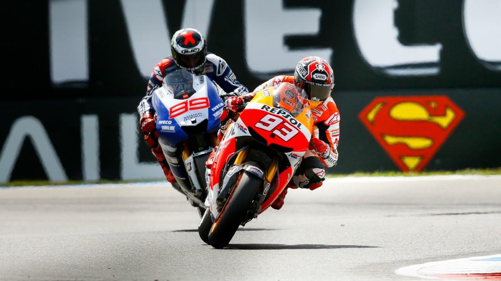 Marc Marquez, Jorge Lorenzo, Repsol Honda Team, Yamaha Factory Racing