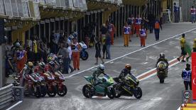 Having topped the FP1 timesheet, new World Champion Pol Espargaro was fastest again on Friday afternoon at the GP Generali de la Comunitat Valenciana, with his 1'35.548 lap keeping him 0.142s ahead of Tuenti HP 40 teammate Tito Rabat and 0.426s in front of Interwetten Paddock Moto2 Racing's Tom Luthi.