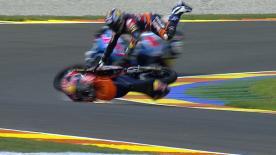 Valencia 2013 - Moto3 - FP2 - Action - Zulfahmi Khairuddin - crash