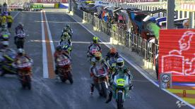 Newly-crowned Moto2™ World Champion Pol Espargaro topped the timesheets as Friday morning marked the start of free practice for the GP Generali de la Comunitat Valenciana. Tuenti HP 40 teammate Tito Rabat was second while Tom Luthi completed the top three for Interwetten Paddock Moto2 Racing.