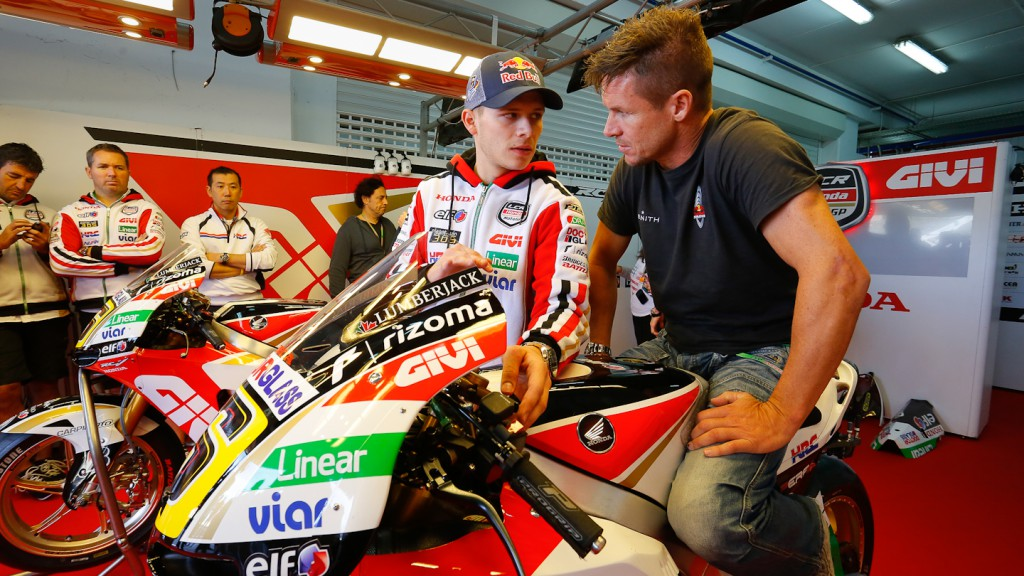 Bradl and skydiver Felix Baumgartner