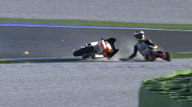 Valencia 2013 - Moto3 - FP2 - Action - Toni Finsterbusch - crash